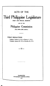 Acts of First- Philippine Legislature: Issues 2188-2287
