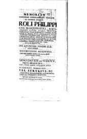 Memoriam R. Pr. Caroli Philippi, Marchionis Brand. ... a. d. VIII. Nov. parent. sacris a Ch. Davide de Sydow aeternitati publ. nomine dedicandam indicit Samuel Strykius
