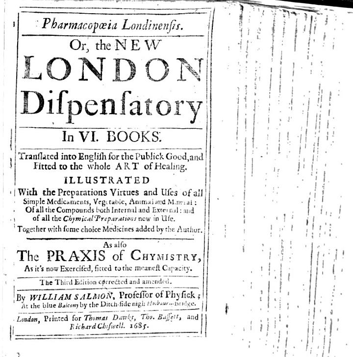 Pharmacopoeia Londinensis; or, the New London Dispensatory. In six books ... Also, the Praxis of Chymistry ... Third edition, corrected