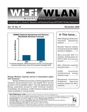 Wi Fi WLAN Monthly Newsletter November 2009 PDF
