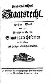 Reichsprälatisches Staatsrecht: Band 1