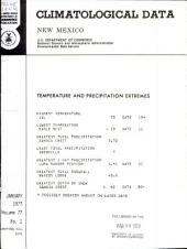 Climatological data. New Mexico: Volumes 77-78