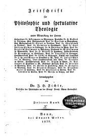 Zeitschrift für Philosophie und spekulative Theologie: Band 7