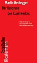Der Ursprung des Kunstwerkes PDF
