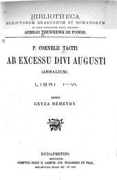 Ab excessu divi Augusti (Annalium): libri i-vi
