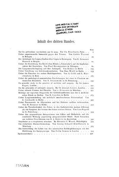 Internationale Beitr Ge Zur Wissenschaftlichen Medizin V 2