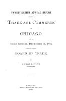 Annual Report of the Trade and Commerce of Chicago PDF