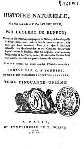 Histoire naturelle generale et particuliere: Volume51