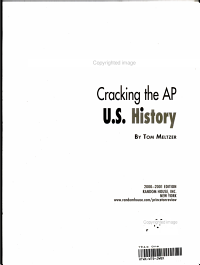 Cracking the AP U S  History