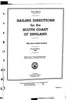 Sailing Directions for the South Coast of England PDF