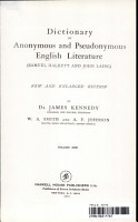 Dictionary of Anonymous and Pseudonymous English Literature PDF