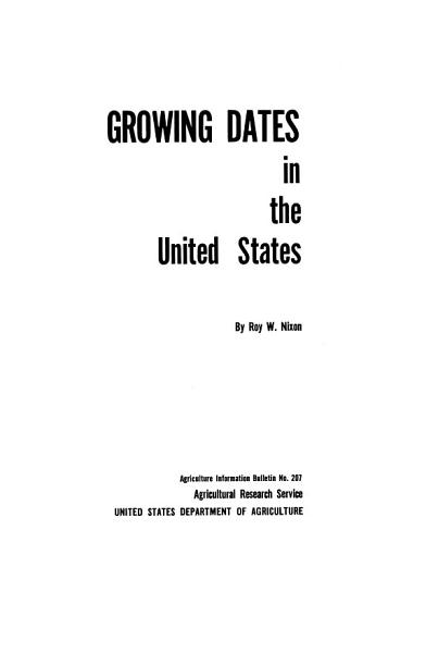 Download Growing Dates in the United States Book