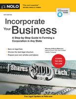 Incorporate Your Business PDF