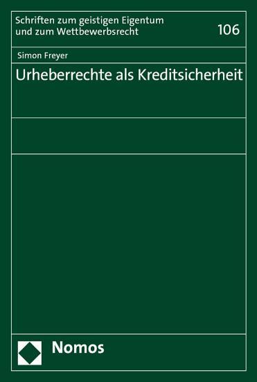 Urheberrechte als Kreditsicherheit PDF