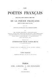 Les poëtes français: Volume1