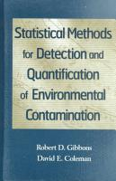 Statistical Methods for Detection and Quantification of Environmental Contamination PDF