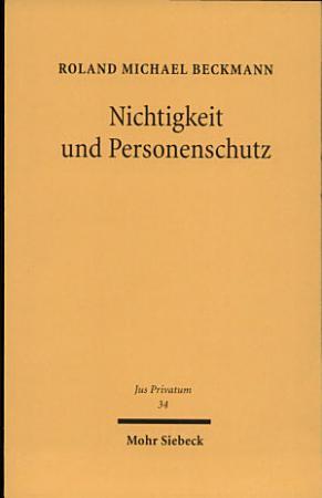 Nichtigkeit und Personenschutz PDF