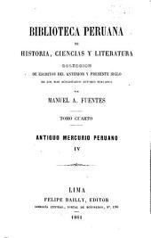 Biblioteca peruana de historia, ciencias y literatura: Volumen 4