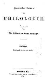 Rheinisches Museum für Philologie: Band 42