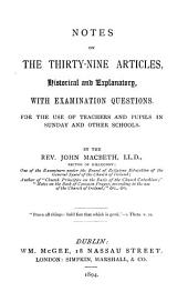 Notes on the Thirty-nine articles
