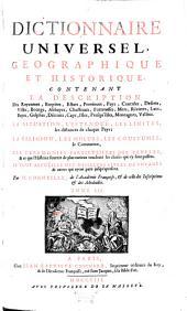 Dictionnaire Universel Geographique Et Historique: Contenant La Description Des Royaumes, Empires, Estats, Provinces, Pays, Contrées .... P - Z, Volume3