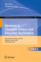 Advances in Computer Science and Education Applications PDF