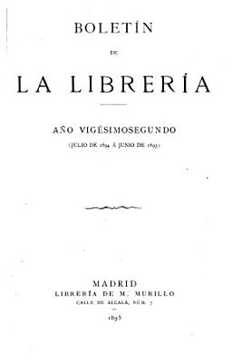 Boletin De La Libreria