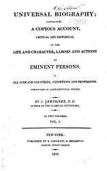 Universal Biography Book PDF