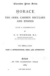 The Odes  Carmen Seculare and Epodes PDF