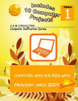 Computer Apps for Kids with Microsoft Office 2007   Summer PDF