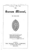 The Sarum Missal PDF