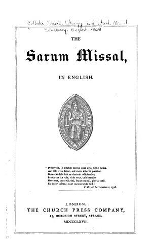 The Sarum Missal