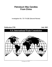 Petroleum Wax Candles from China: Investigation No. 731-TA-282 (second Review).