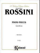 Piano Pieces, Volume III: Piano Collection