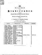 Verzeichnis der Studierenden: 1842, SH