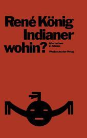 Indianer—wohin?: Alternativen in Arizona; Skizzen zur Entwicklungssoziologie
