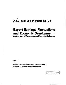 Export Earnings Fluctuations and Economic Development PDF