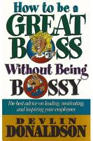 How to be a great Boss without Being Bossy PDF