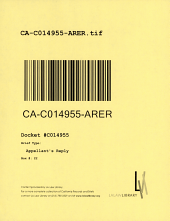 California. Court of Appeal (3rd Appellate District). Records and Briefs: C014955, Errata to Appellant's Reply