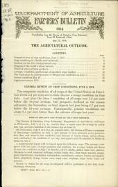 The agricultural outlook: Volumes 601-625