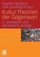 Kultur  Theorien der Gegenwart PDF