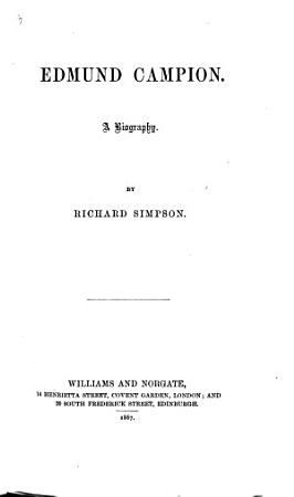 Edmund Campion PDF