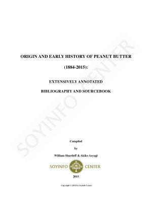 Origin and Early History of Peanut Butter  1884 2015