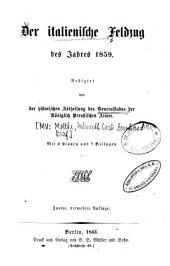 Der italienische Feldzug des Jahres 1859