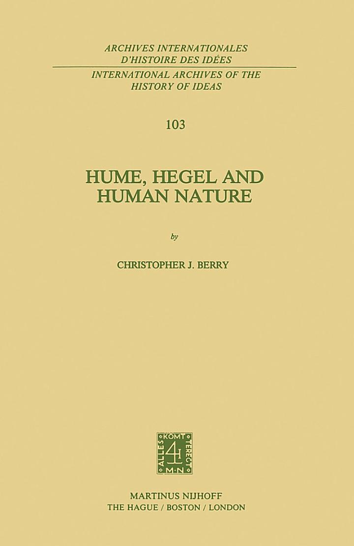 Hume, Hegel and Human Nature
