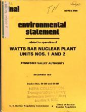 Watts Bar Nuclear Plant Units 1-2, Operation: Environmental Impact Statement