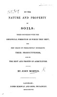 On the nature and property of Soils      and on the rent and profits of agriculture PDF