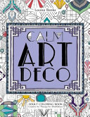 Calm Art Deco Adult Coloring Book