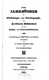 Jahnsche Jahrbücher für Philologie und Paedagogik: Band 44