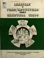 Directory of Firms/institutions Engaged in Industrial Crops